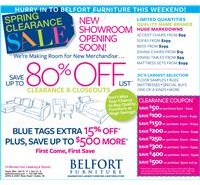 March Clearance Event Blue tags 15% off plus save up to $500 more