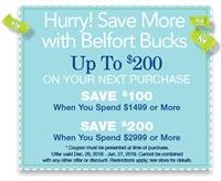 Save more with Belfort Bucks, up to $200 more. See store for details.