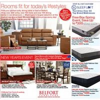 New Year's Event, save more with instant rebates on select items. Plus, free box spring event through Jan. 20.
