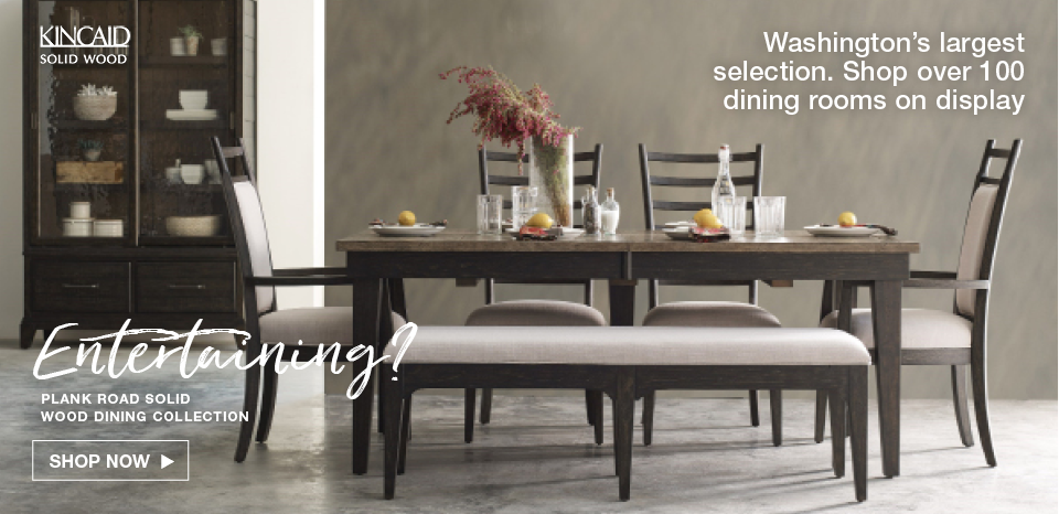 Shop Washington's Largest selection of dining rooms, over 100 display