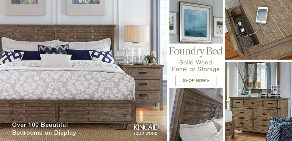 New Kincaid Solid Wood Foudry Bed