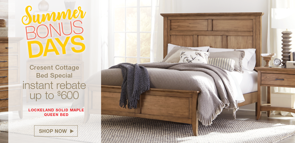 Save up to $600 on select Cresent solid wood beds