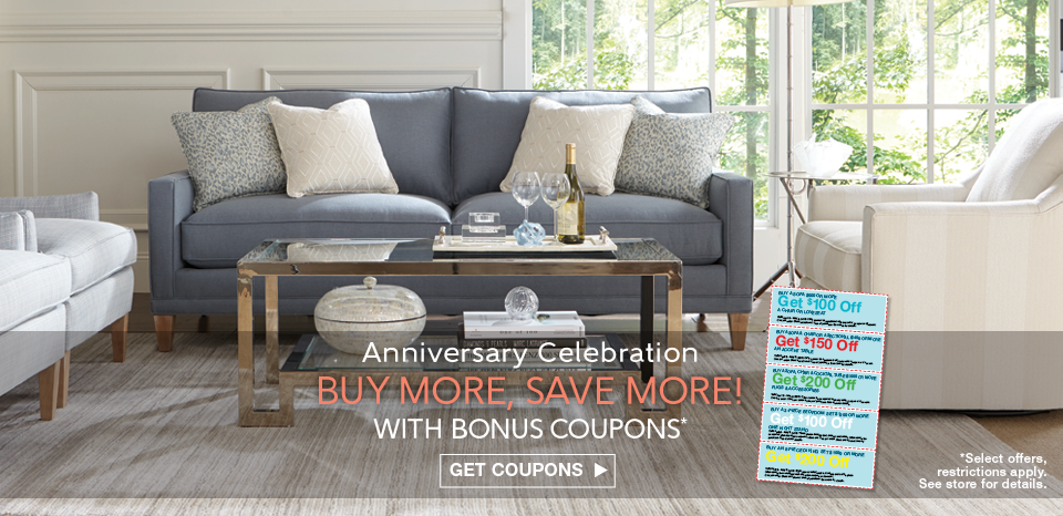 Anniversary celebration, buy more, save with select purchase