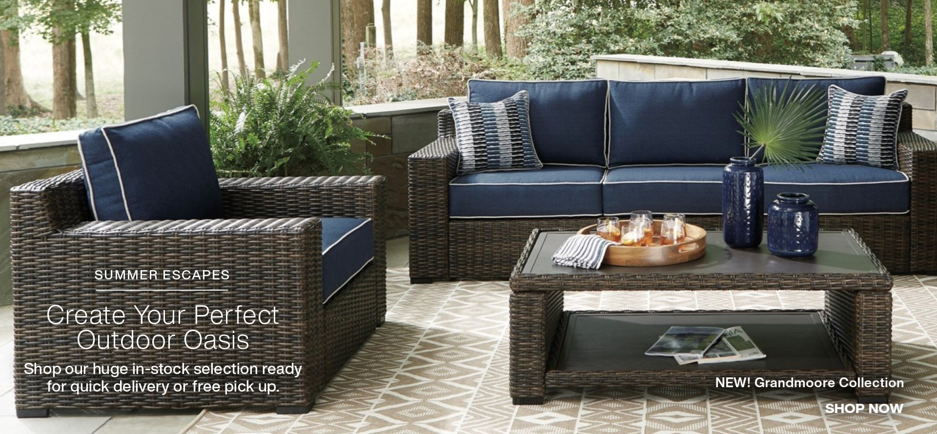Shop our new Grandmoore Outdoor sofa