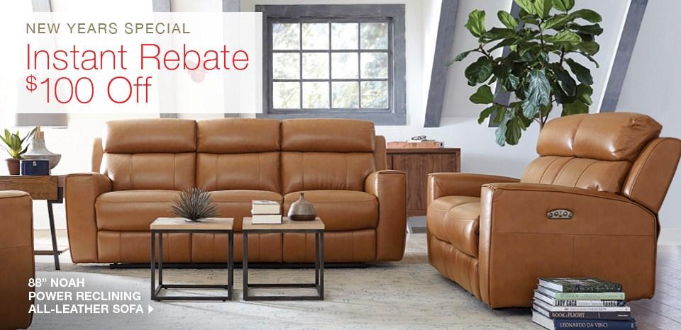 Noah power reclining leather sofa extra $100 off