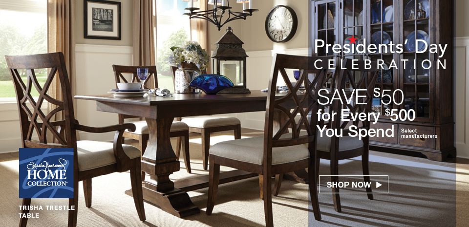 Presidents' Day Celebration; Save $50 for every $500 on select manufacturers