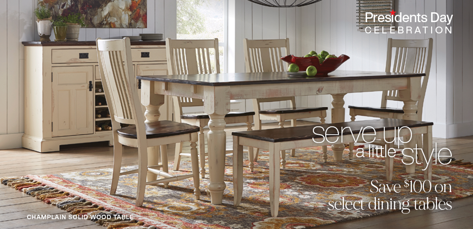 Presidents' Day Special, Save $100 on select dining tables