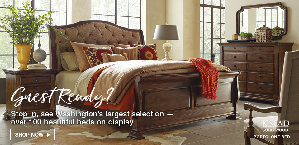 Guest ready? Shop over 100 beds on display