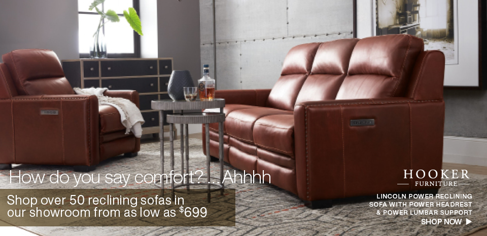 Shop over 50 reclining sofas in store