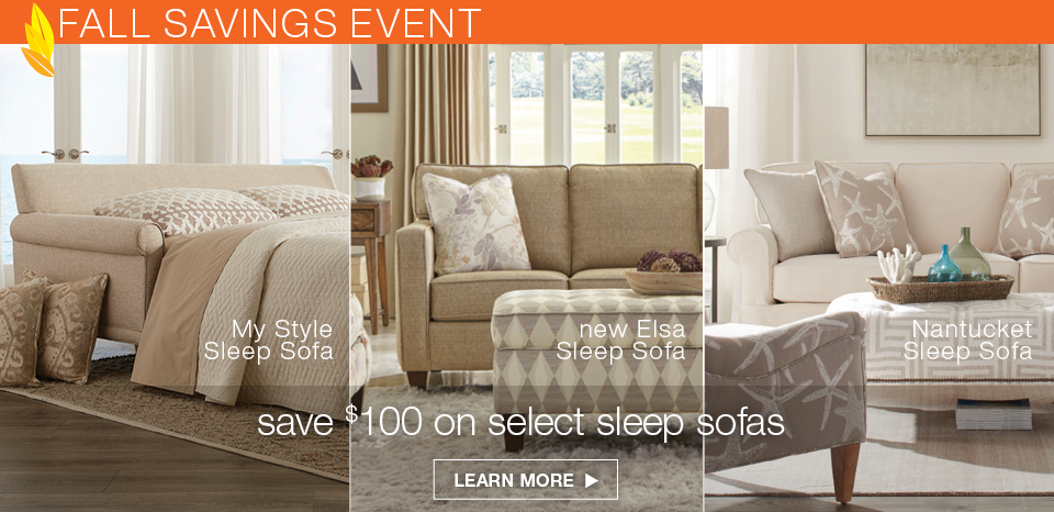 Save $100 on select sleep sofas