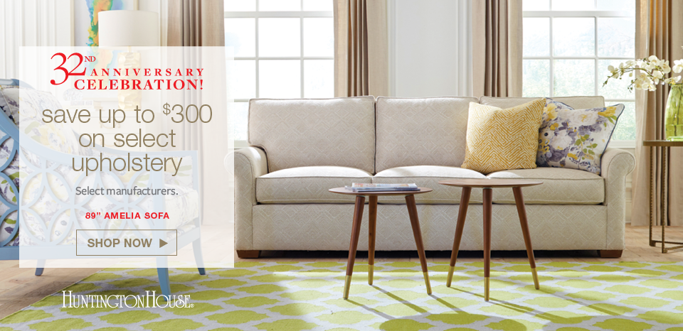 Anniversary Celebration, Save up to $300 on select upholstery