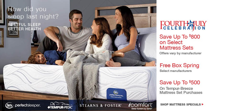 enjoy factory authorized July 4th mattress savings