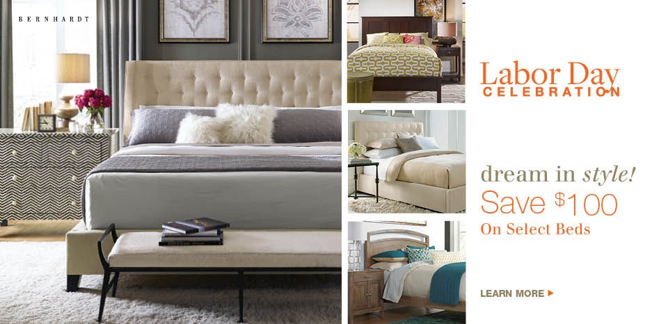 Save $100 on select beds, see store details