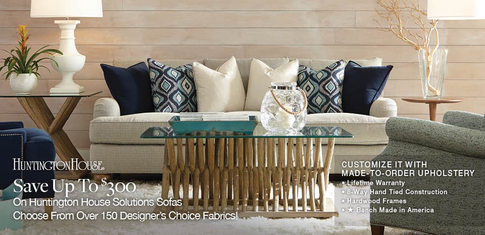 Up to $300 Huntington House Solutions in Designers Choice Fabrics