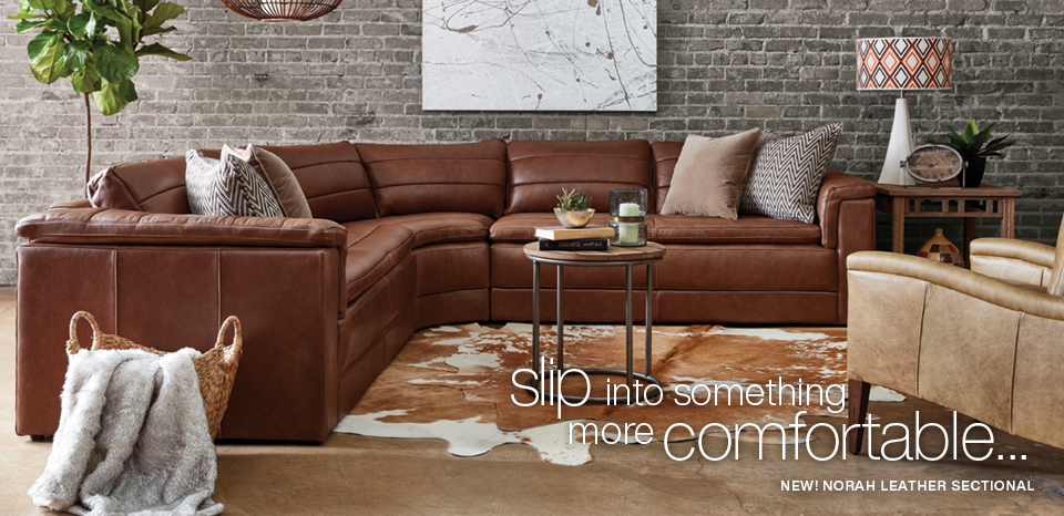 Slip into something more comfortable, shop new Norah sectional