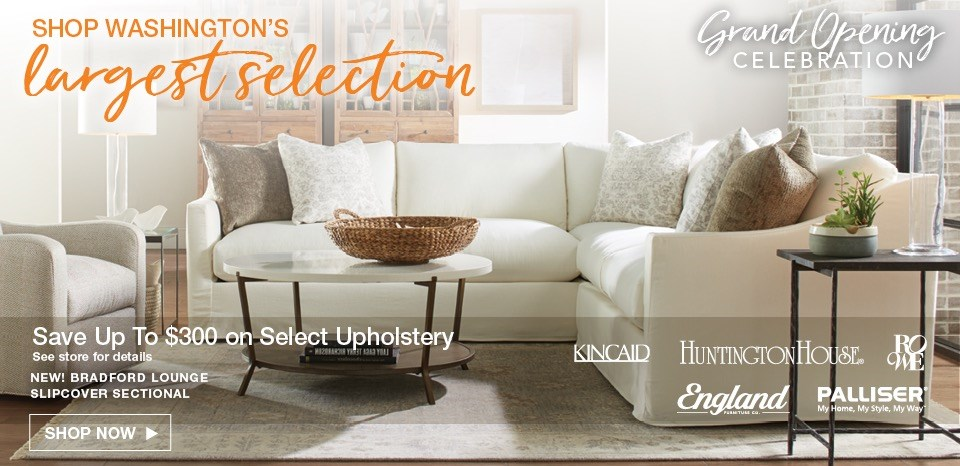 Save up to $300 on select upholstery