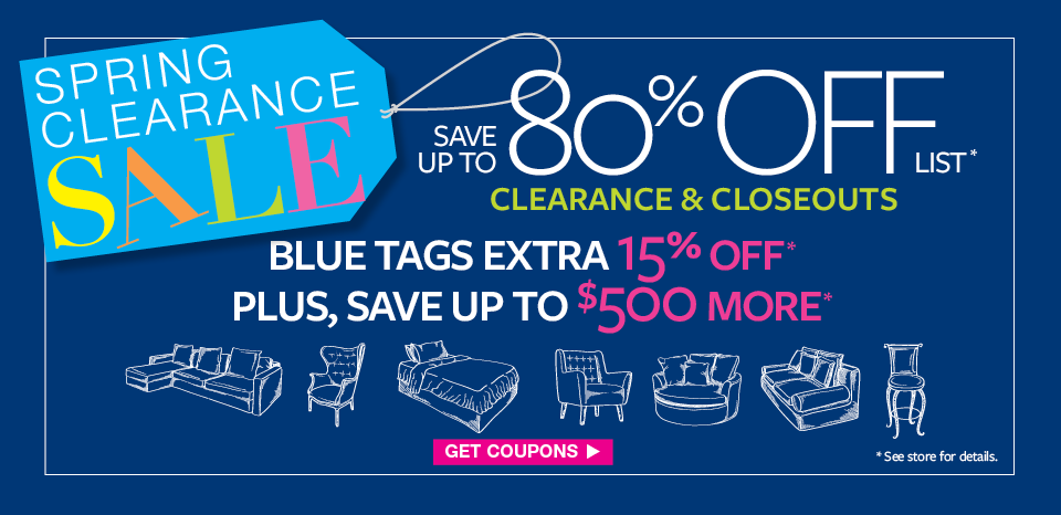Spring Clearance Event, save up to $500 more on blue tag items