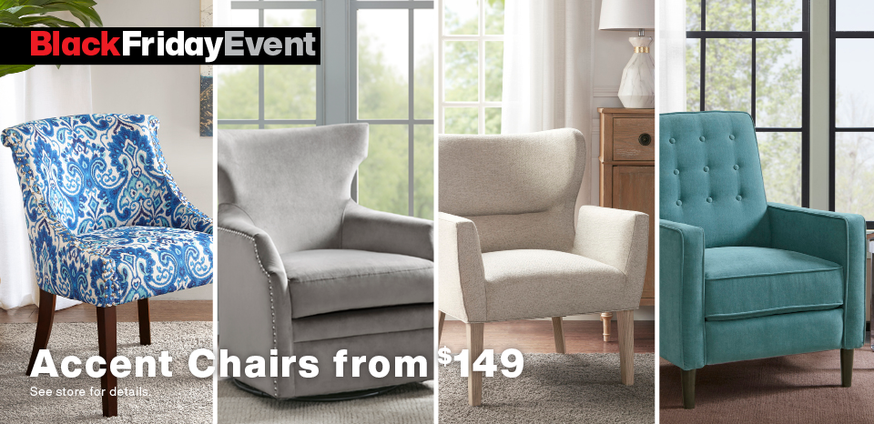 Shop Black Friday deals, accent chairs from $149