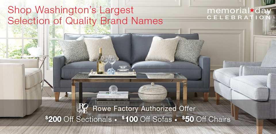 Memorial Day Celebration, Save up to $300 on select upholstery