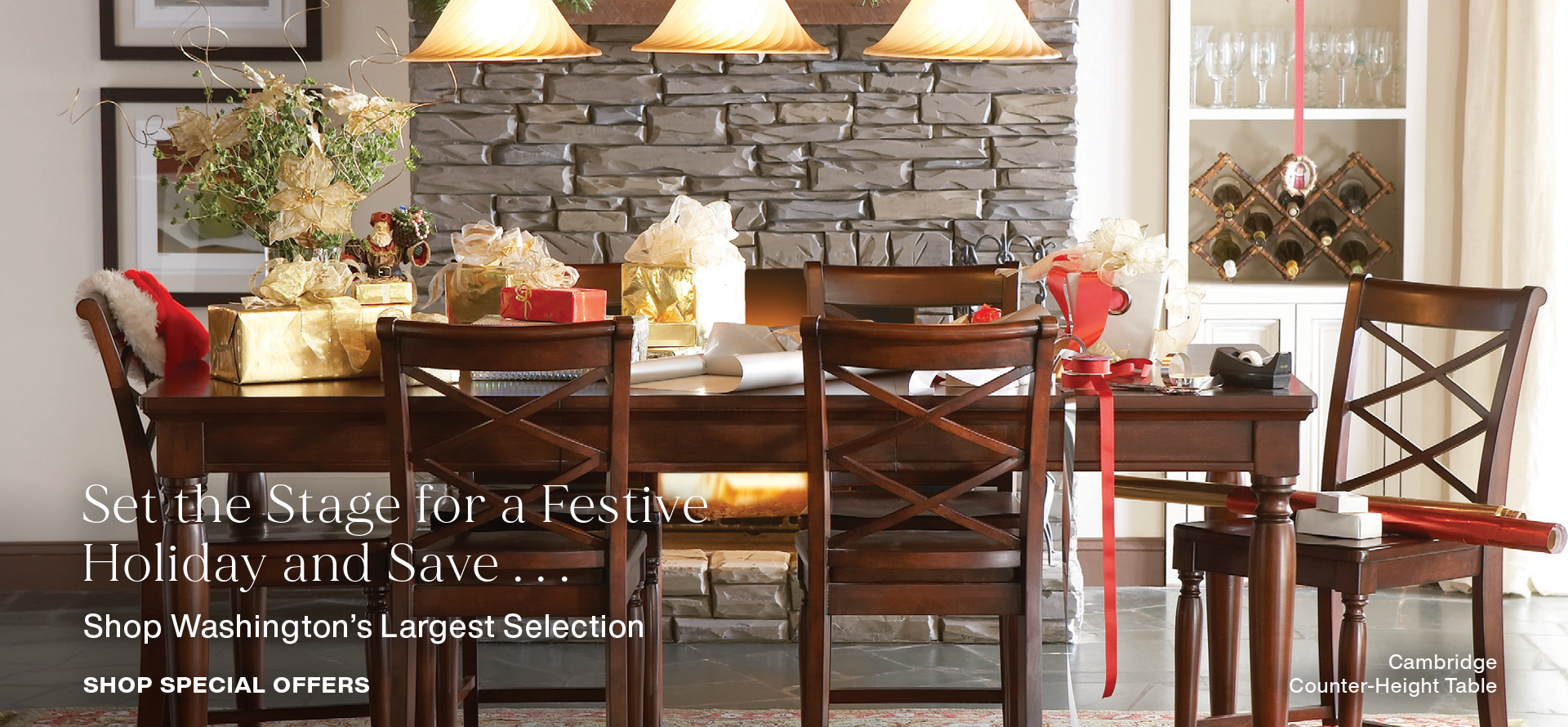Set the stage for a festive holiday and save