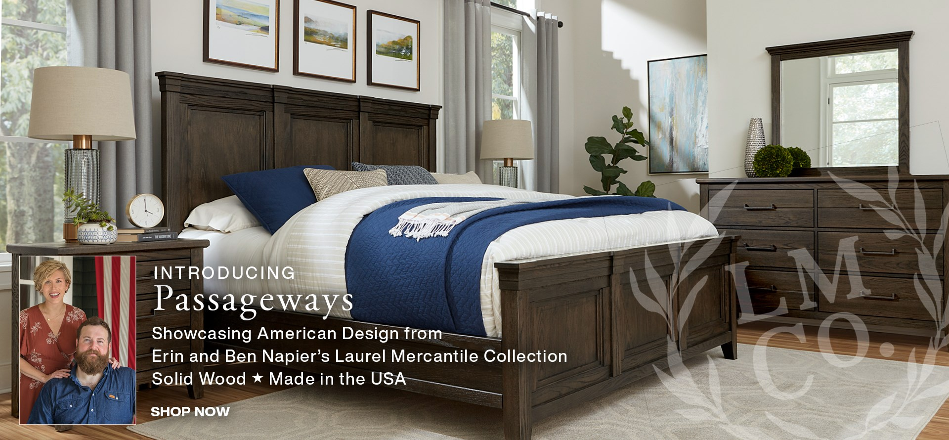 Introducing Passageways solid wood bedroom, made in the USA