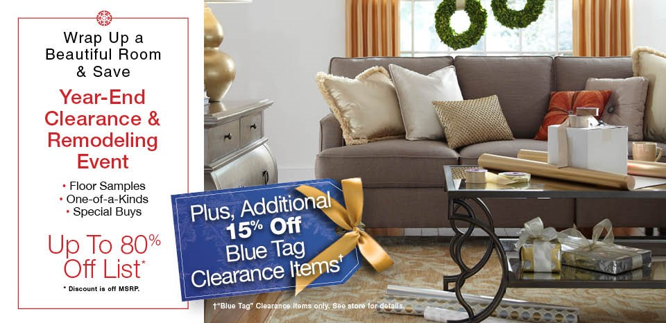 End of Year Clearance, Additional 15% Off Blue Tags