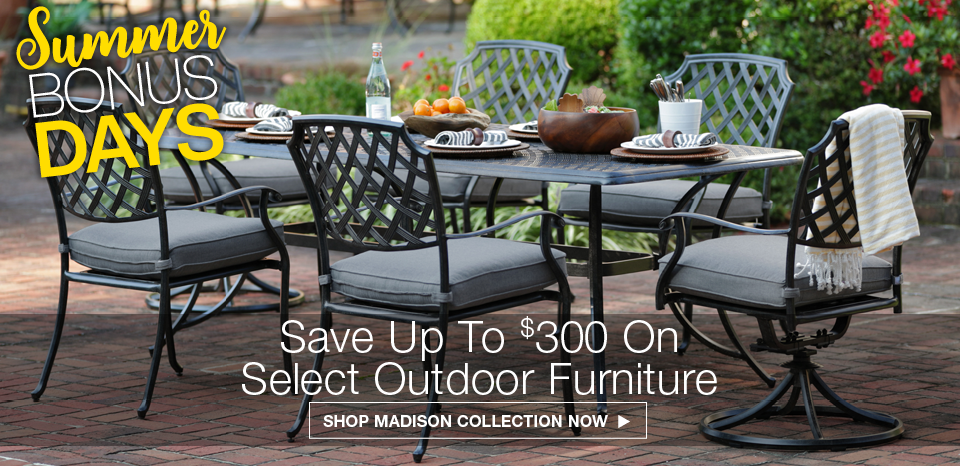Save up to $300 on select outdoor furniture