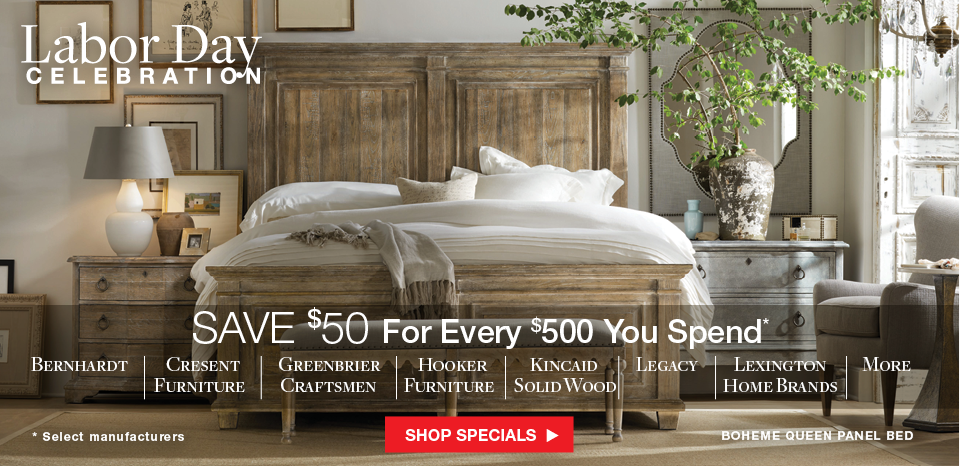 Save $50 for every $500 you spend on select manufacturers