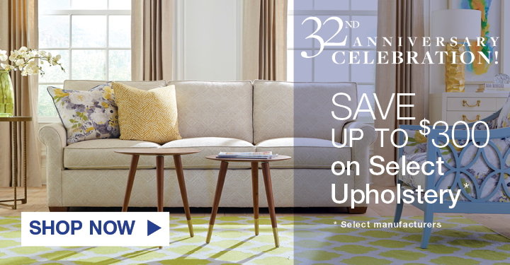 Anniversary Celebration Save Up To 300 On Select Upholstery