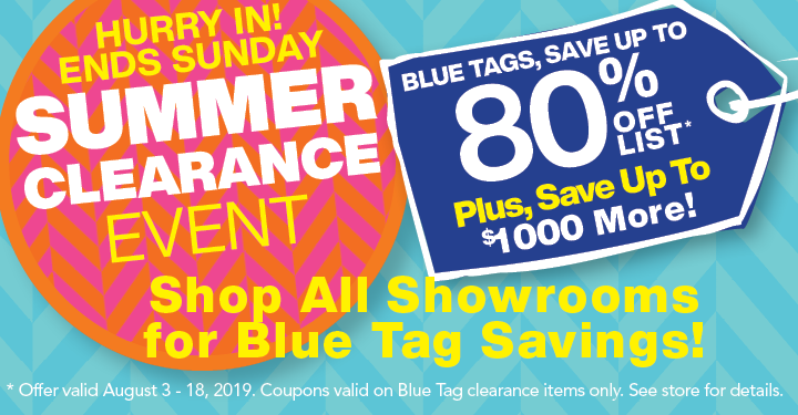 Summer Blue Tag Clearance Event, save up to $1000 more on Blue Tags