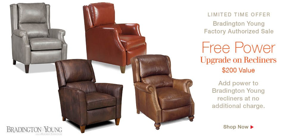 Free power upgrade on Bradington Young Recliners