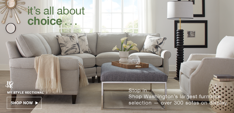Find your sofa style, shop over 300 on display