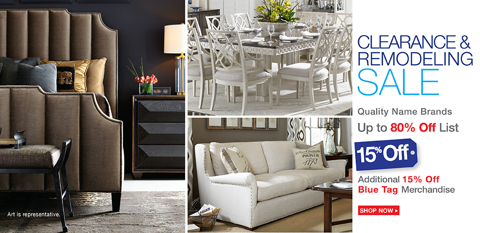 Clearance and remodeling event, take an extra 15% off blue tags