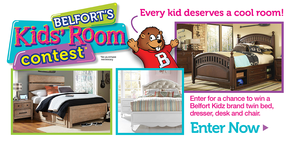 Enter for a chance to win a Belfort Kidz brand bedroom
