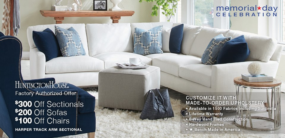 Memorial Day Celebration Save up to $300 on Select Upholstery