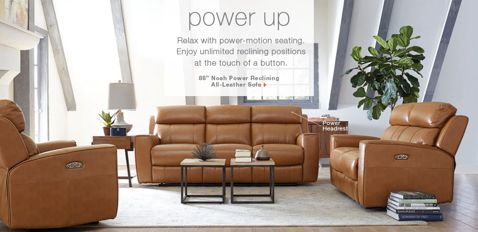 Power reclining furniture, see over 50 reclining sofas on display