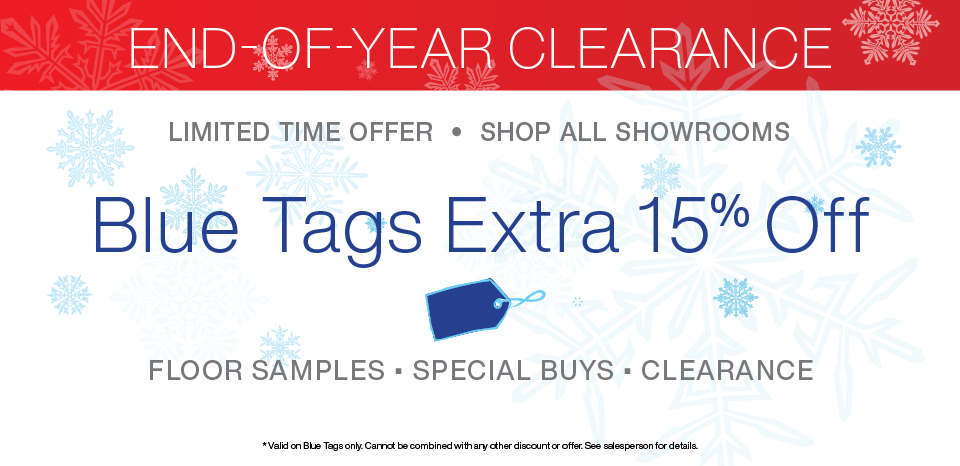 End of Year Clearance, extra 15% off bluet tags