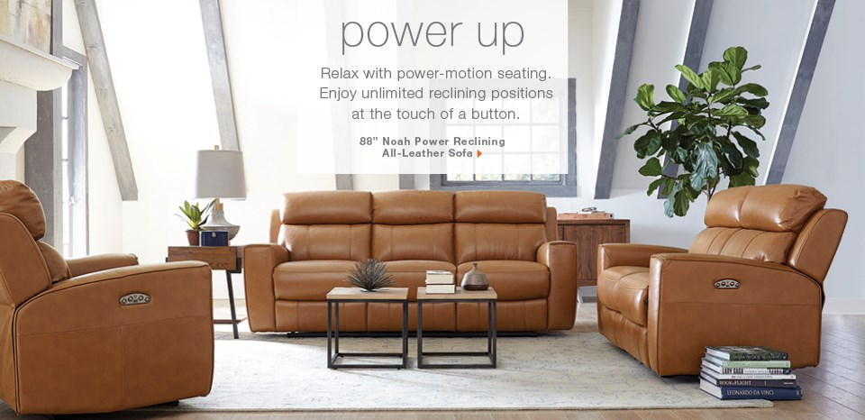 Noah power reclining leather sofa extra $100 off