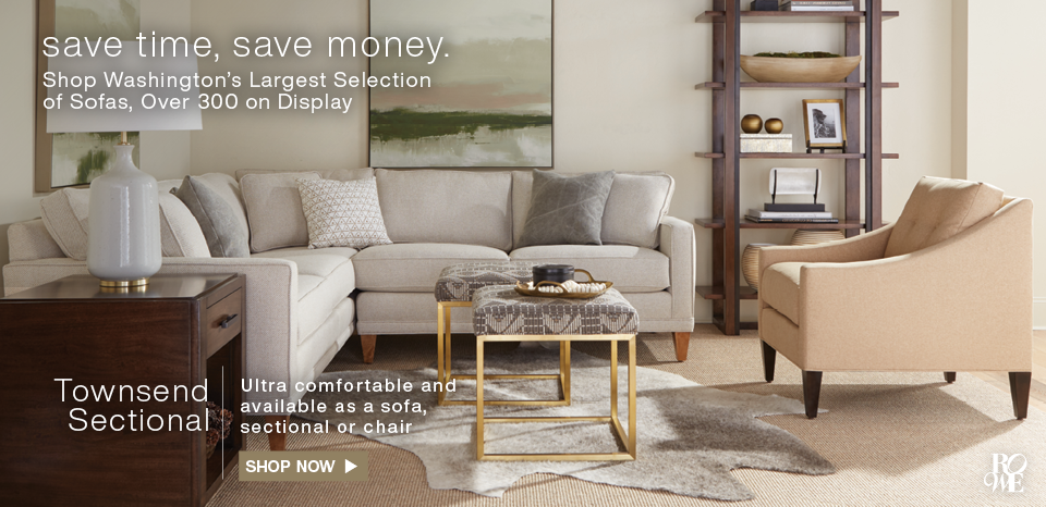 Shop Washington's largest selection, over 300 sofas on display.