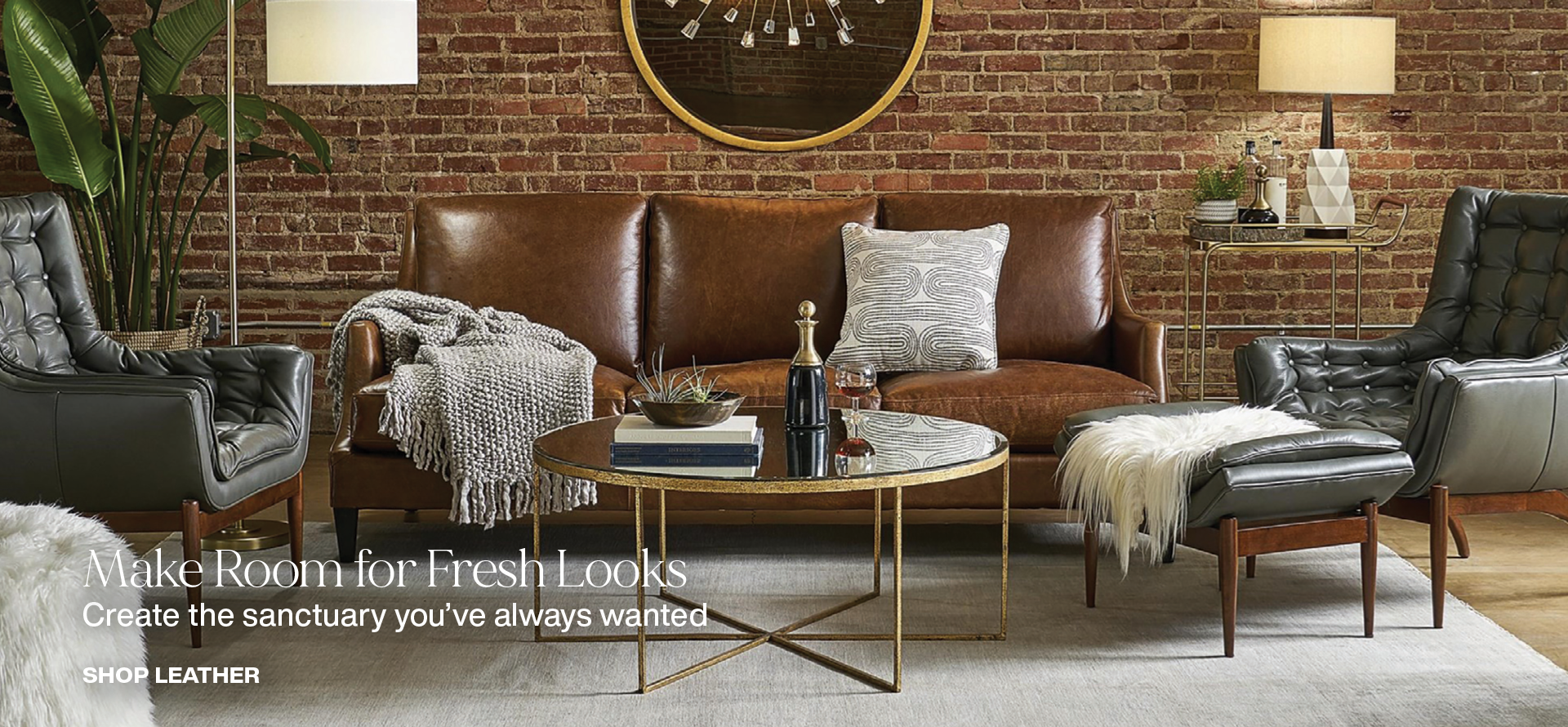 Sink into comfort with luxurious leather