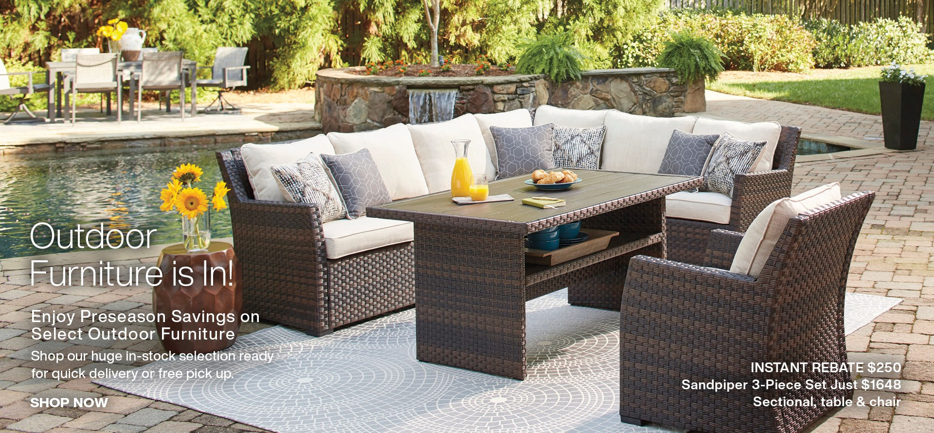 Outdoor Furniture is In! Shop pre