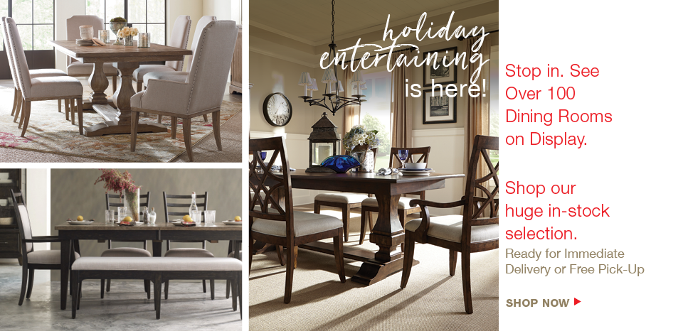 Shop Washington's largest selection of dining tables, over 100 on display