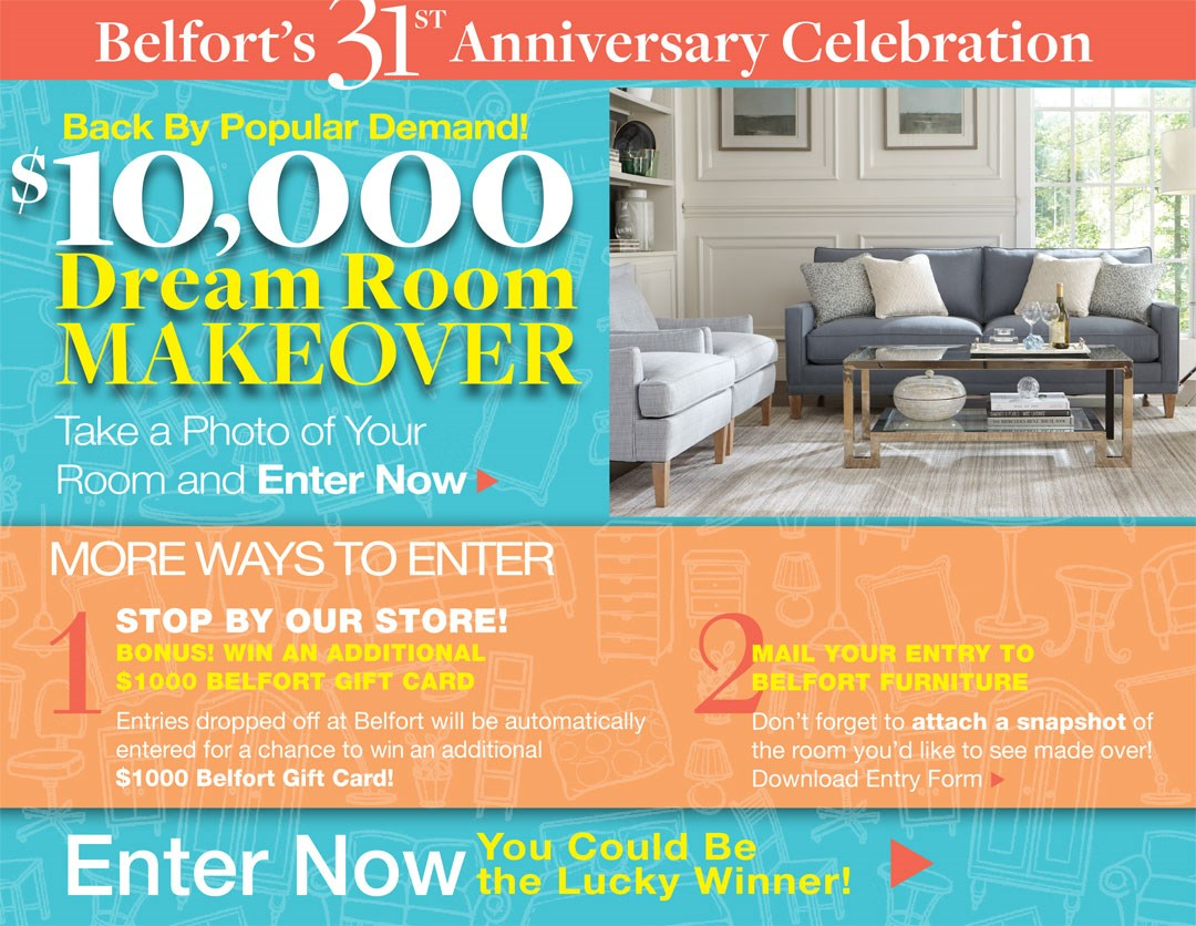 Dream Room Makeover Contest Belfort Furniture Washington Dc Northern Virginia Maryland And Fairfax Va