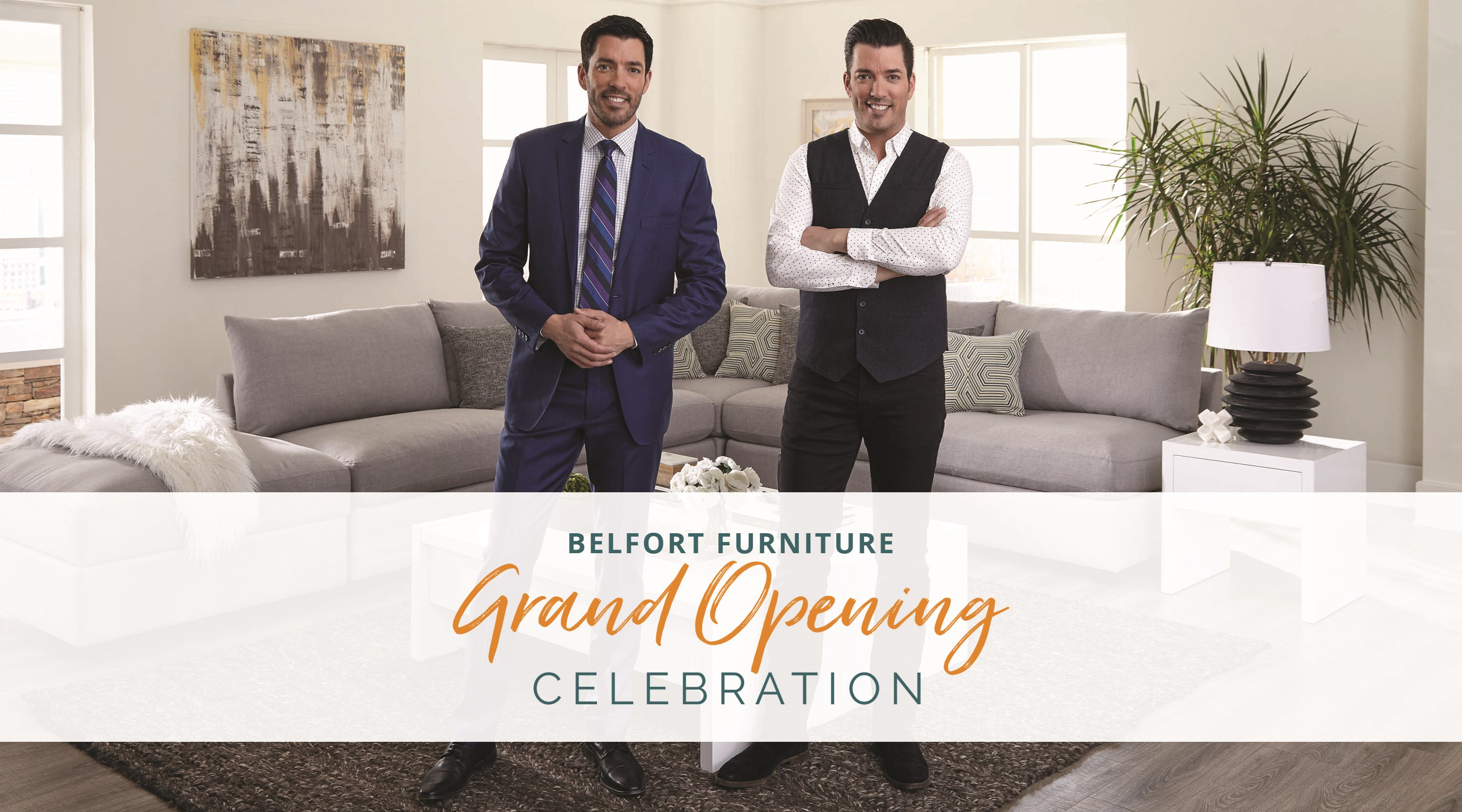 Belfort Furniture Grand Opening Celebration With Drew And Jonathan Scott