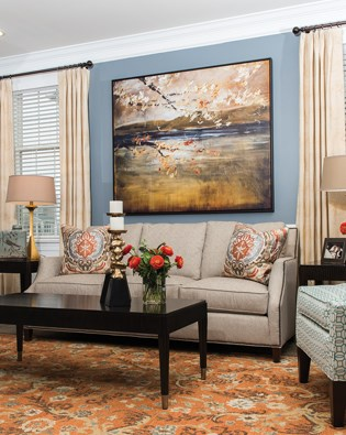 Fall Tones Family Room