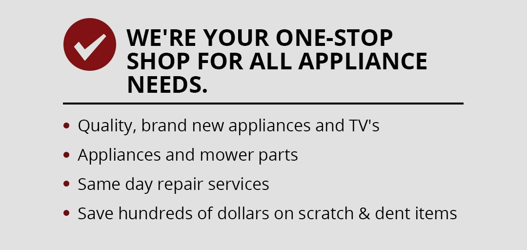 Weather's is your one stop shop for your appliance needs.