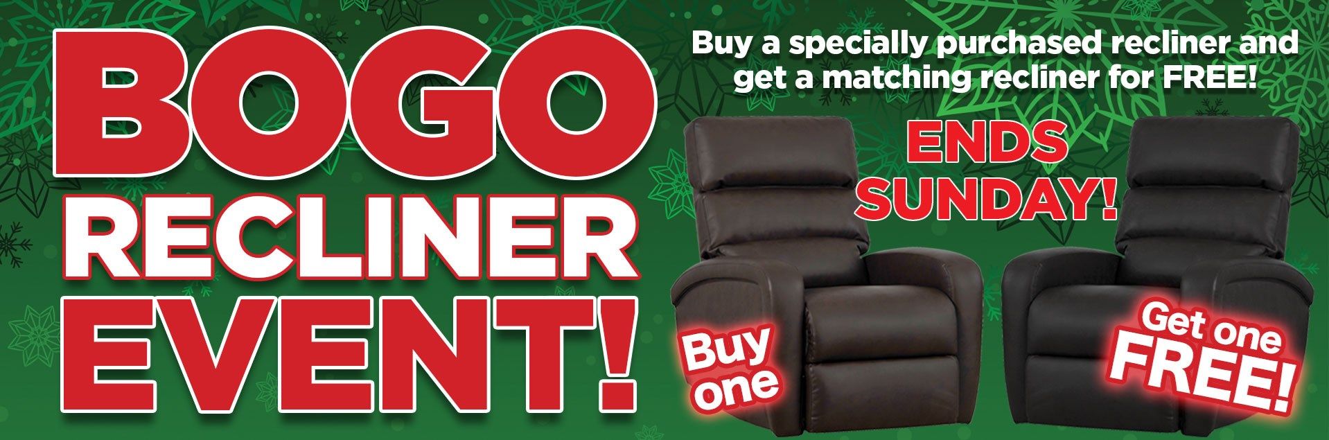 Sadlers BOGO Recliner Event