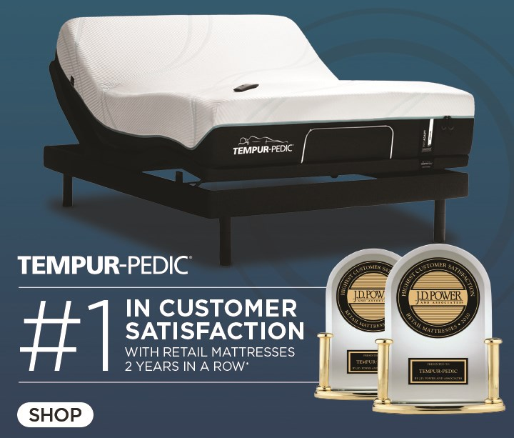 No. 1 in Customer Satisfaction, Tempur-Pedic