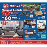 Olinde's Memorial Day Ad