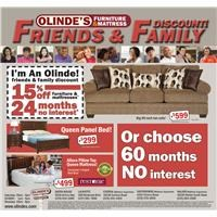 Olinde's Friends & Family Ad